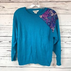 VINTAGE 1980's Ladies Sweater Retro M